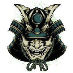 Hannya Samurai, Kabuto Samurai, Samurai Helmet, Oni Mask Tattoo, Samurai Warrior Tattoo, Hannya Tattoo, Best 3d Tattoos, Asian Tattoos, Bild Tattoos