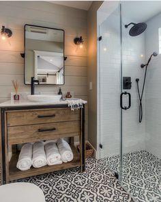 20 best farmhouse bathroom design ideas 36 best farmhouse bathroom design and old farmhouse lighting small bathroom decor ideas 36 best farmhouse bathroom design [. Bathroom Renos, Bathroom Remodeling, Remodeling Ideas, Bathroom Vanities, Budget Bathroom, Bathroom Storage, Bathroom Layout, Basement Bathroom Ideas, Shiplap Bathroom
