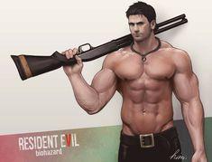 Captain Chris Resident Evil, Comic Character, Character Design, Ftv Pics, Masculine Art, Animated Man, Evil Anime, Fantasy Art Men, Cartoon Man