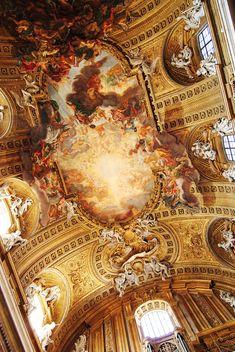 """gorettmisstag: """"Giovanni Battista Gaulli (Il Baciccio) - Trionfo del nome di Gesù, fresco, 1687, Church of the Gesù, Rome """""""
