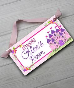 Look at this Princess Personalized Door Sign on #zulily today!