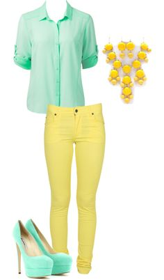 """Minty Bright"" by danicashea on Polyvore"