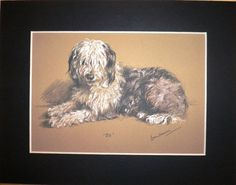 Signed mounted 1946 Lucy Dawson Mac Jill Old English Sheepdog dog plate/print  gift on Etsy, $16.37