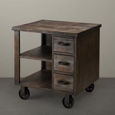Renate CIRQUE Accent Table on Wheels - Overstock™ Shopping - Great Deals on Coffee, Sofa & End Tables