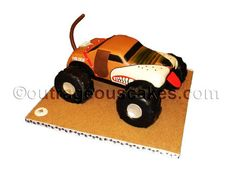 3D Monster Mutt - monster truck cake  Cake by Outrageouscakes