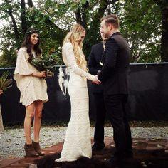Boho bride. Bohemian wedding. Bona drag dress. Gypsy wedding.