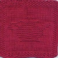 Teapot Knit Dishcloth Pattern
