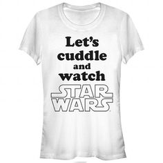 Star Wars Cuddle and Watch White T-Shirt T-Shirts & Hoodies