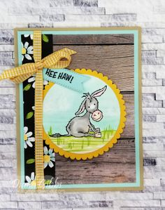 Bird Cards, Stamping Up Cards, Animal Cards, Handmade Birthday Cards, Card Sketches, Donkey, Homemade Cards, Cardmaking, Greeting Cards