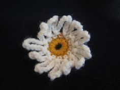 Delicate Summer Spring Crochet White Daisy by MonkeyCatBoutique, $2.50