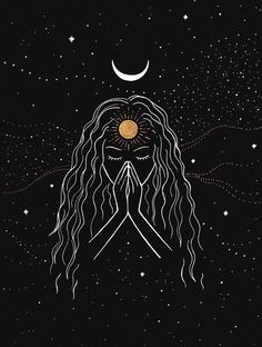 Namaste [Original] is part of Realistic drawings Tutorial Art Lessons - This is my original drawing on black paper with metallic pens only one available! Please feel free to send me a message if you have any questions! Psychedelic Art, Illustration Art, Illustrations, Diy Tattoo, Tattoo Ideas, Moon Art, Aesthetic Art, Mini Tattoos, Art Inspo