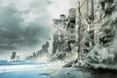 Movies, Films ,beginning, inception, city, coast, sea, the destruction of wallpapers