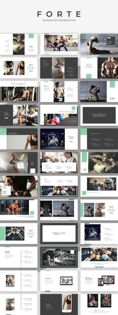 Forte PowerPoint Presentation by SlideStation on @creativemarket #template #presentation #powerpoint #keynote #fitness #gym #layout #inspiration