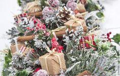 """Купить Рождественская гирлянда """"Лондон"""" - ярко-красный, гирлянда, рождество, зима, Новый Год"""