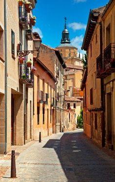 El casco antiguo de Segovia, España