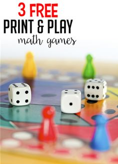 Grab 3 free print and play math games to use in your first or second grade classroom right away!
