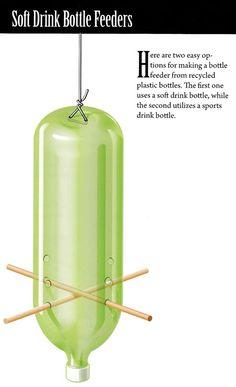 DIY: recycled soda bottle bird feeder by patrica