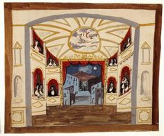 Set design by Pablo Picasso for Pulcinella, 1920.