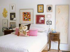 kreative Wandgestaltung-Schlafzimmer-Kinderbilder