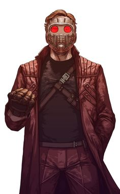 Star Lord - Guardians of the Galaxy by Hinchel Or The shadow and shading in this is awesome..!