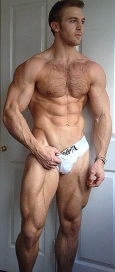 Adam Charlton is JACKED, especially his legs.  He used to be a sprinter, if I'm not mistaken...  #bodybuilder #model #legs