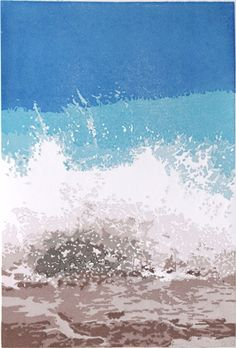 Wave, Lefkas. Size 20 x 30cms. 4 of 5 remaining. £120.