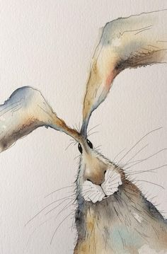 Thank you for viewing my hare painting! This is an original watercolour painting with pen detailing. It is a one-off unique piece of art work, not a print. Measures 26cm x 42.5cm The painting will be signed and dated, but not mounted. It will be wrapped in cellophane with a