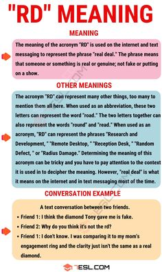 "The acronym ""RD"" is used quite frequently in online and text conversations. However, many people wonder what it means. If one of those people wondering is you, Learn English Grammar, English Language Learning, English Writing, English Lessons, English Vocabulary, Teaching English, Cool Writing, Better Writing, Sms Language"
