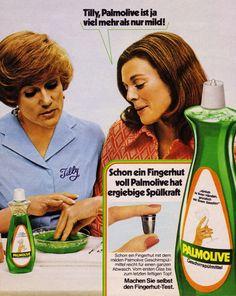 Palmolive Geschirrspülmittel (1973) mit Tante Tilly