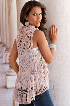 The new sparkly crochet cardigan!