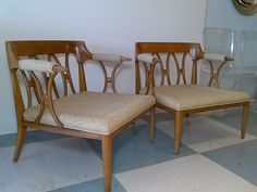 Pair Of Tomlinson Vintage, Mid-Century Modern Lounge/Club Chairs, Sophistcate on Etsy, $3,800.00