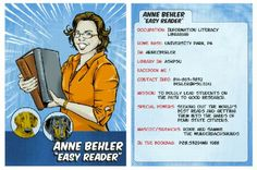 Trading cards? Cool! Easy Reader, Librarians, Trading Cards, Literacy, Student, State University, Reading, Animal, Image