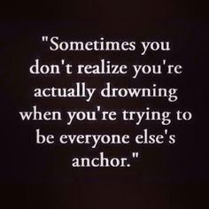 Im the anchor always