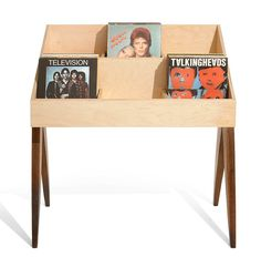 Flip through albums face first, just like the bins at the record store. The Atocha Design Record Stand is heirloom-quality furniture designed to show off your music.
