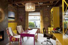 Love the #table and #chairs  Keltainen talo rannalla: Keltaista kotiin