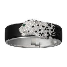 Panthère de Cartier bracelet - White gold, black lacquer, emeralds, onyx, diamonds - Fine Bracelets for women - Cartier