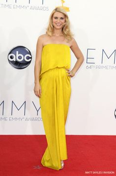 """Claire Danes from """"Homeland"""" arrives at the 64th Primetime Emmy Awards at the Nokia Theatre"""