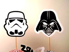 Star Wars Darth Vader and Storm Trooper Cupcake Toppers – made by PimpYourParty on Etsy