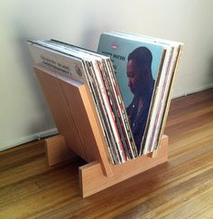 LP Record Stand by LLTTechopark on Etsy, $80.00 -MY DAD MADE ONE JUST LIKE THIS FOR ME