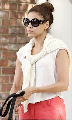 4cc5964fee sweater draped over shoulders - Google Search Prada Baroque Sunglasses