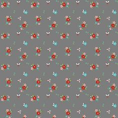 Riley Blake Designs - Little Red Riding Hood Floral Gray - | The Fabric Stash