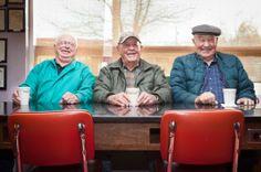 Chuck, Ernie, and Chriss, D&M Coffee Shop, Ellensburg, Washington