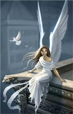[Fantasy art] Angel Nhilca by jhoneil at Epilogue Angels Among Us, Angels And Demons, Fantasy Art Angels, Angel Artwork, I Believe In Angels, Ange Demon, My Guardian Angel, Dark Angels, Angel Pictures