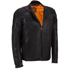 Big Tall Milwaukee Leather Tab Collar Leather Jacket w/ ZipOut Liner ($510) ❤ liked on Polyvore featuring men's fashion, men's clothing, men's outerwear, men's jackets, mens slim fit motorcycle jacket, mens leather moto jacket, mens big and tall outerwear, mens slim fit leather jacket and mens big and tall jackets