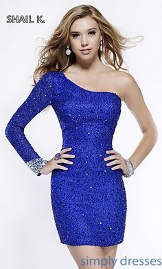 Shop Simply Dresses for one sleeve short sequin dresses for homecoming. Sexy…