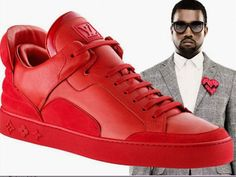 RARE Authentic LOUIS VUITTON x Kanye West Don Red Suede Sneakers Jasper SOLD OUT #LouisVuitton #FashionSneakers