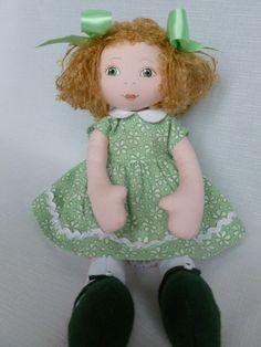 Melanie A 13in Rag Cloth Handmade Original Doll by Brenda Brightmore   eBay