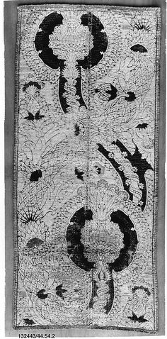 Panel Date: 15th century Culture: Italian (Florence) Medium: Silk and metal thread Accession Number: 44.54.2