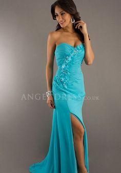 Sweetheart Sheath/ Column Floor Length Natural Waist Chiffon With Crystal Evening Dress