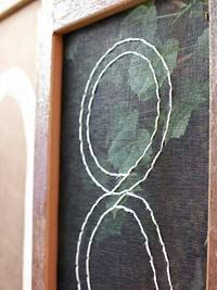 stitch house numbers on old window screens - love it!